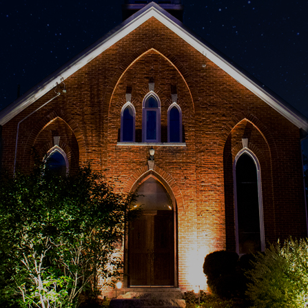 Landscape Lighting for a Church